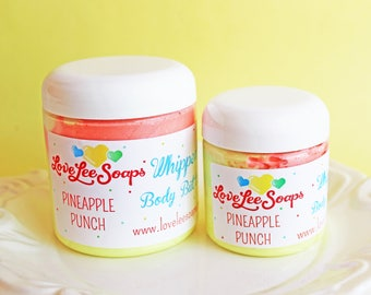 Whipped Body Butter Pineapple Punch - Whipped Lotion, Body Frosting, Body Cream, Gift For Her, Body Lotion, Skin Care, Moisture, Hand Cream