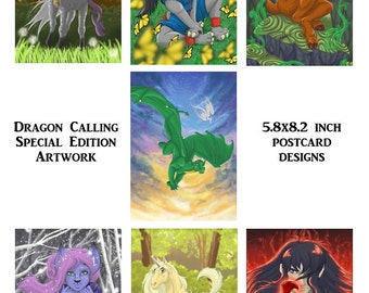 Special Edition Dragon Calling Character Postcards (Complete Set 1-7)