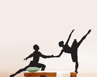 Vinyl Wall Decal Sticker Dual Ballet Dancer Big 66x122