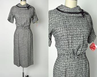 Vintage 1950s Dress 50s Career Girl Day Dress NOS Deadstock Martha Manning
