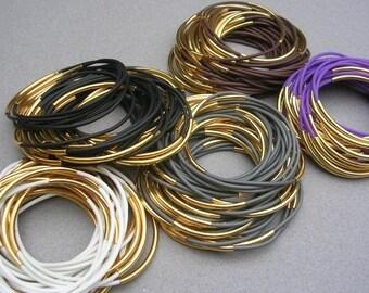 Stack Bracelets for Women Stackable Bracelets Stacking Bracelet Set Rubber Bracelet for Stacking 80s Jewelry