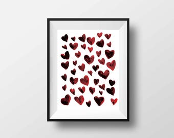 Heart Attack / Valentine's Digital Print Download Love Wall Art Instant Download Heart Wall Decor Holiday Valentine's Day