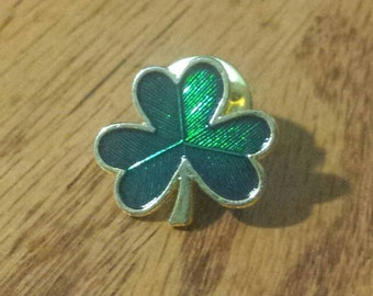 Vintage Clover Leaf Pin, Tie Pin, Hat Pin, Vest Pin...
