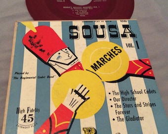 Vintage Sousa Marches Vol.1 45 Record/Parade Records/ Marches Record