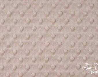 Minky Dot Fabric - Latte - from Shannon Fabrics