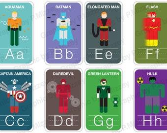 Superhero Flashcards