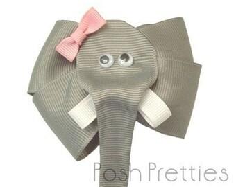 Jumbo Elephant Hair Bow Clippie