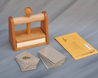 Leaf and Flower Press Kit by Tyler Morris Woodworking