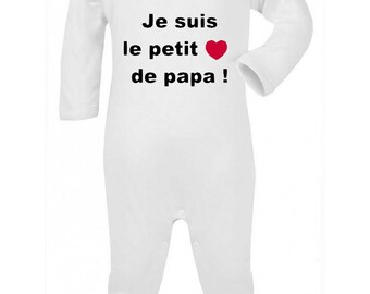 Pajamas baby Message I'm the little heart.
