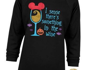 Sally Nightmare Before Christmas Wine Shirt - Nightmare Before Christmas Inspired Glitter Shirt