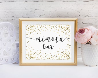 Mimosa Bar Printable, Wedding, Bridal Shower, Party