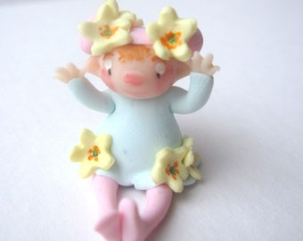 Tiny flower fairy figurine miniature doll