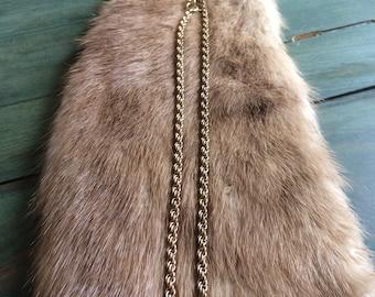 DESTASH - Vintage 12k Gold Filled Rope Chain- Gold Chain - Vintage Jewelry - Vintage Chain