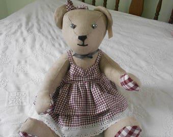 The large Teddy bear fabric