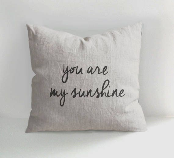 ANamDesign You Are My Sunshine Pillow