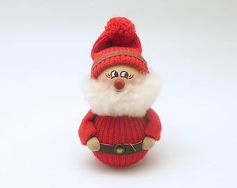 Vintage Christmas Decoration Wood Tomte Figurine Sweden Scandinavian