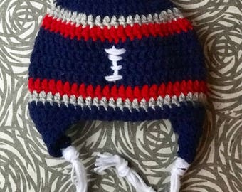 BABY Football Beanie With Pom Pom