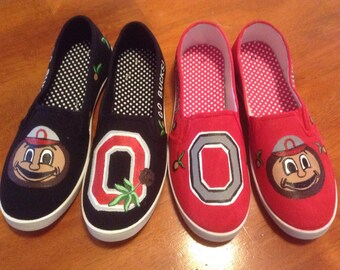 Women's Canvas Ohio State Shoes