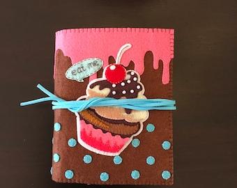 Cupcake Felt Notebook