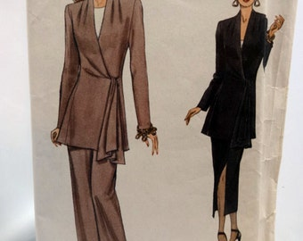 Vogue 8766, Misses' Jacket, Skirt and Pants Sewing Pattern, Very Easy Very Vogue, Misses' Size 8-10-12, Uncut
