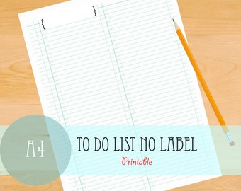 To Do List - No Label