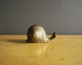 Meet Mr. Snail - Brass Paperweight or Figurine