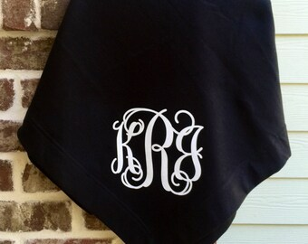 Monogrammed blanket, Throw Blanket, Monogrammed gifts, Personalized gifts, Graduation Gifts, Monogrammed Throw Blankets, Gifts for Her