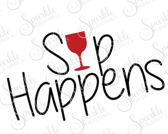sip happens cut file wine alcohol girls night wino bunco rh etsystudio com bunco clip art images christmas bunco clipart