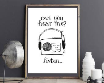 Can you hear me? Lists... Print Din A4