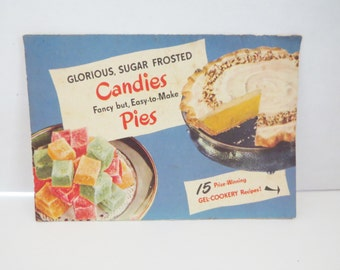 Knox Sparkling Gelatine Gel-Cookery Recipe Pamphlet, 15 Recipes, 1940's