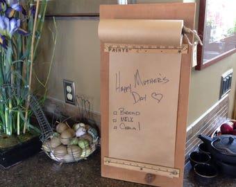 Kraft Paper Roll Wall mounted Message Board/Grocery List