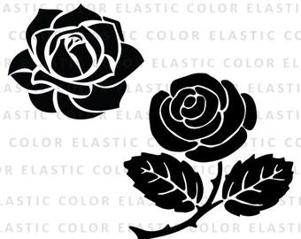 Rose svg - rose clipart - rose blossom clip art vector digital download  svg, eps, dxf, png
