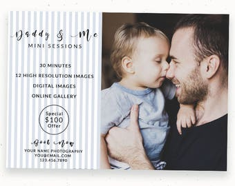 Mini Session, Photoshop Template, Fathers Day, Marketing Board, Spring Sessions, Father's Day, Daddy and Me, Marketing, PSD c159