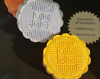 Shower Steamers, Menthol Sinus Relief, Eucalyptus shower steam, shower tablet, sinus pressure, cool menthal shower, fizzy steamers, menthal