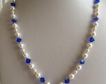 SWAROVSKI Crystal Heart Necklace - blue