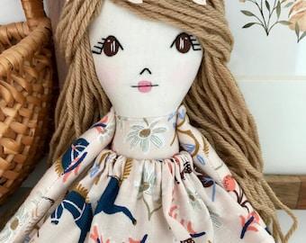 Rag Doll Cloth Doll Dolls Fabric Doll Rag Dolls Dolls Handmade Fabric Dolls Cloth Dolls Doll Heirloom Doll Handmade Doll Boho Nursery Decor