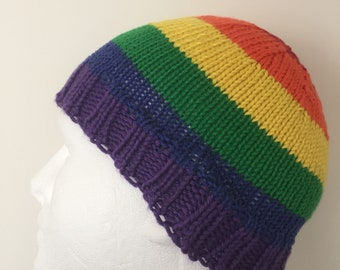 Rainbow Gay Pride Beanie Hat
