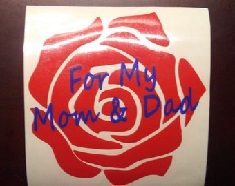 "Personalize Rose: 5""x5"" Decal"