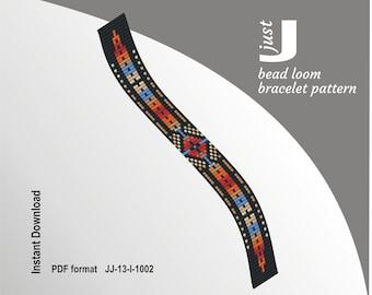 Bead loom pattern, native american bracelet, loom bracelet pdf, american jewelry, american pattern, colorful bracelet, beading tutorial