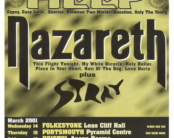 URIAH HEAP & NAZARETH on Tour Poster
