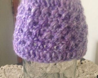 Crochet Baby Hat Lilac Purple Baby Beanie Girls Photo Prop 6-12 Months