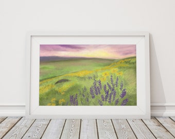 There is a Field Print from Pastel Drawing