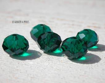 ABACUS 10 Dark Emerald x 5 mm beads