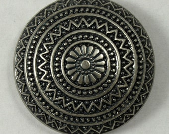 28mm Antique Silver Mexican Style Wheel Cabochon #1290