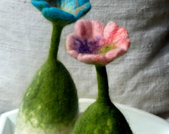hand felted egg cozy for the breakfast table