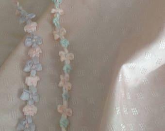 """Pale Pink, 100% silk Taffeta Fabric, very light weight, pale pink, 45"""" wide, 1/2 yard, dyed to match silk ribbon"""