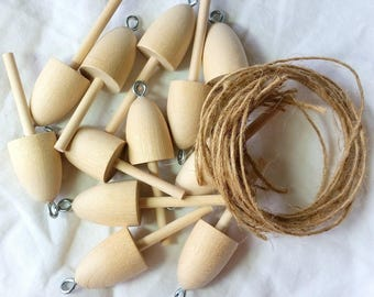 Wedding, DIY, favors, Lobster Buoys, wooden unfinished, set of 12 buoy favors