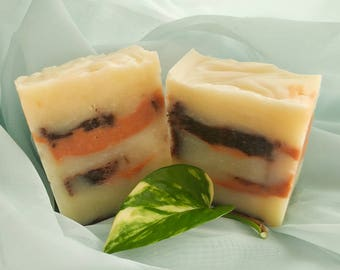 Orange Chocolate Soap - Luxurious - All Natural - Handmade Soap