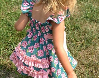SALE....Buy 2 get 1 Free....Sparrow Flutter Tunic and Dress Instant  Download PDF Sewing Pattern Size 3-6m to 8