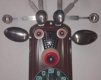 Handmade Deer Clock